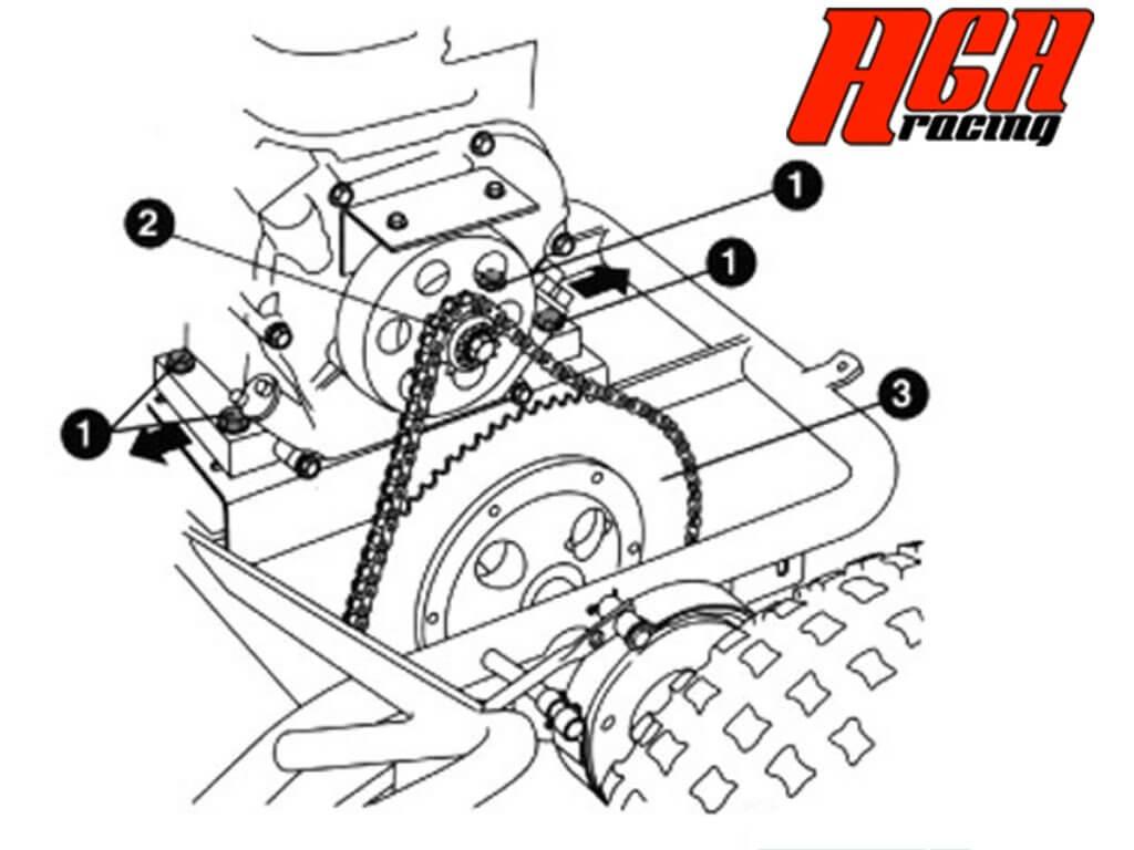 comprar recambio cadena karting y como ajustarla