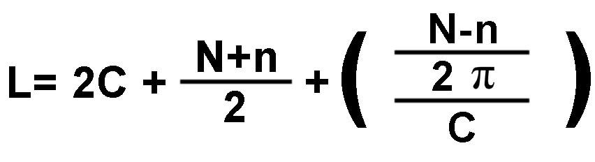 como calcular el largo de cadena que necesito