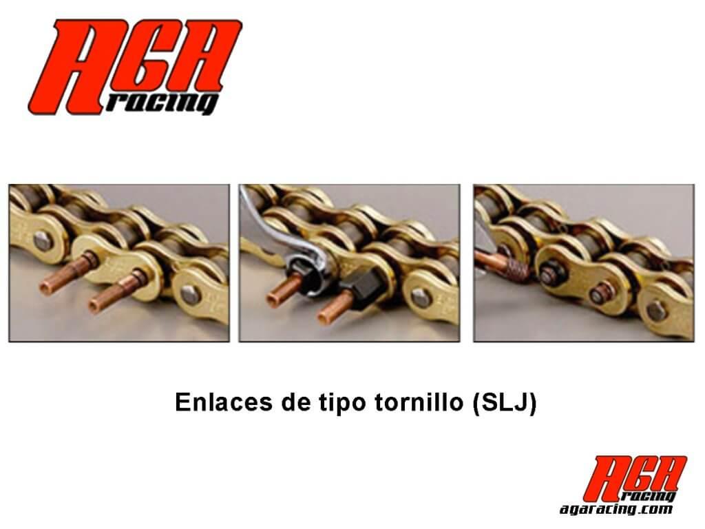 cadena karting EK enlaces tornillo
