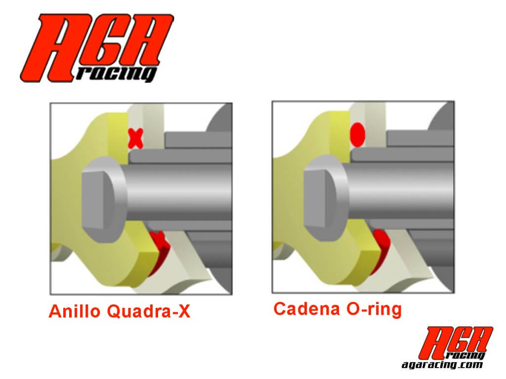 comprar cadena EK diseño del anillo Quadra-X